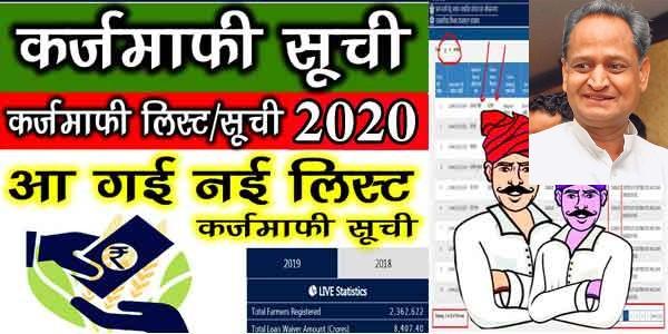 Rajasthan Kisan Karj Mafi List 2020 latest News